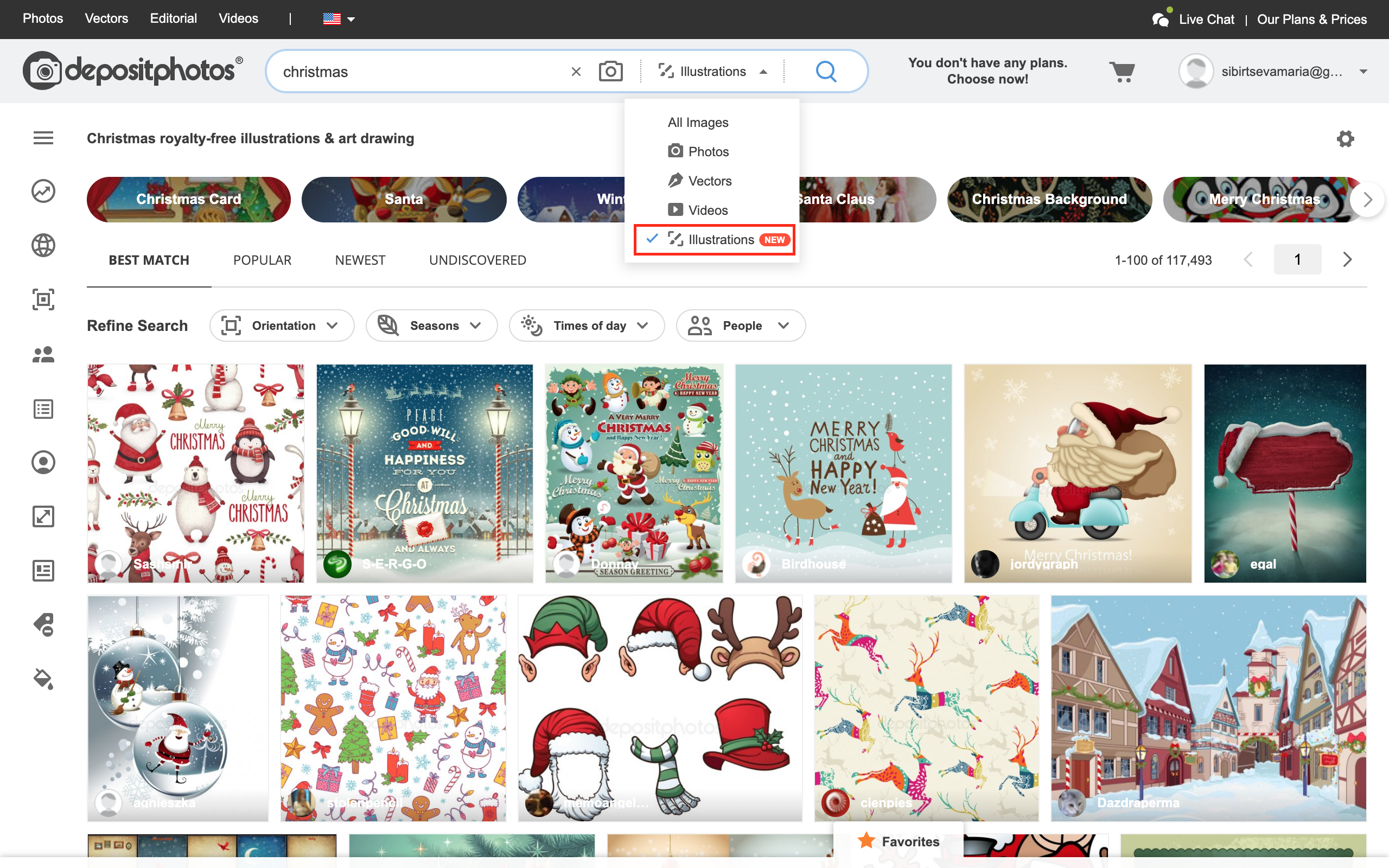 Looking for illustrations? Try our new search filter