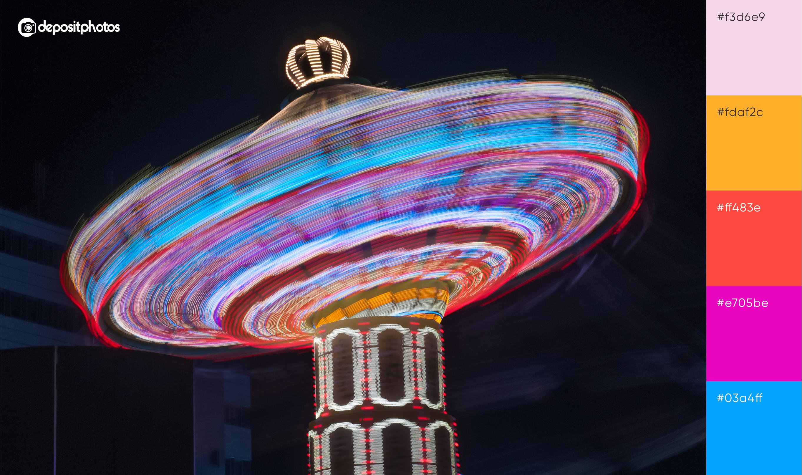carousel at night