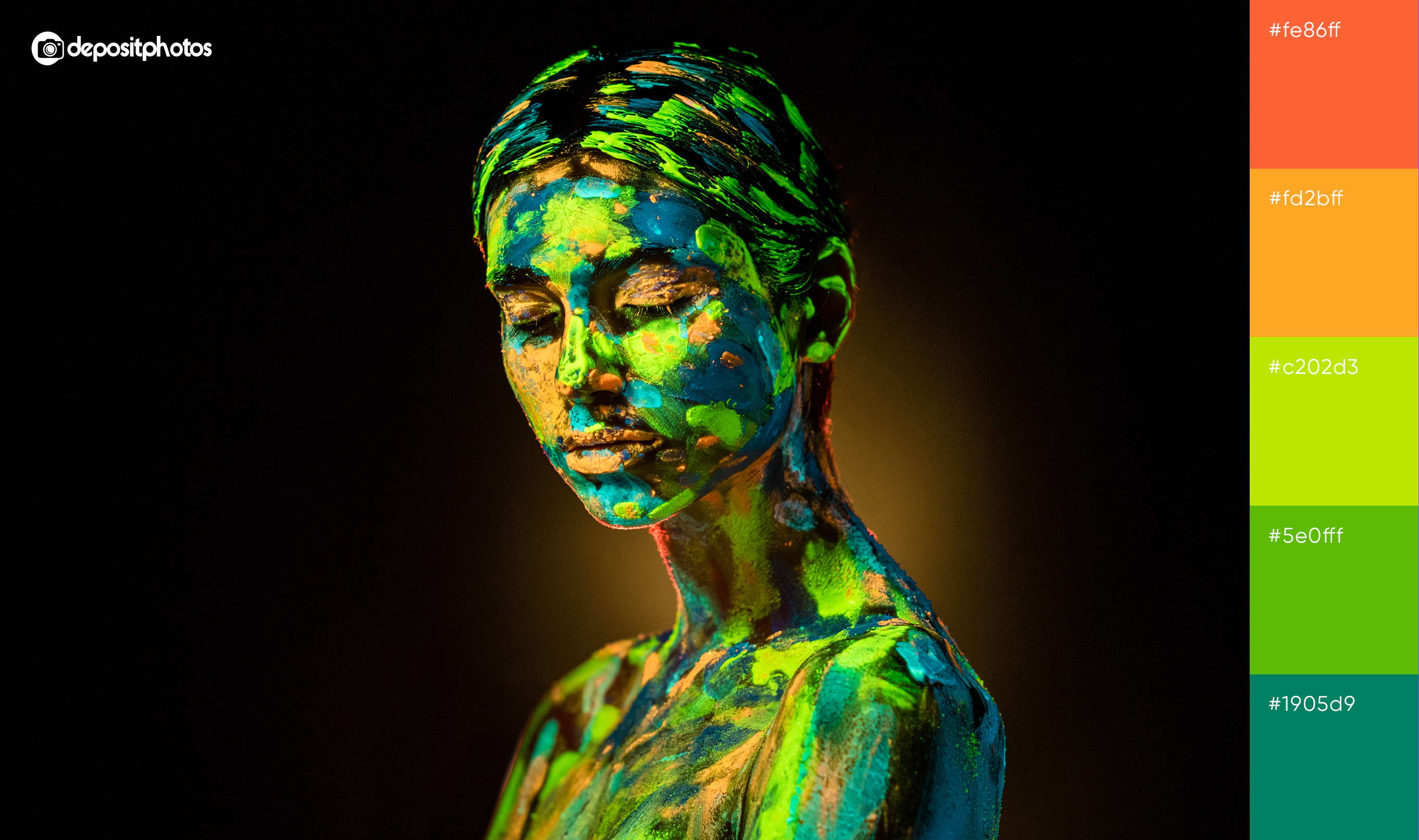 girl in paint