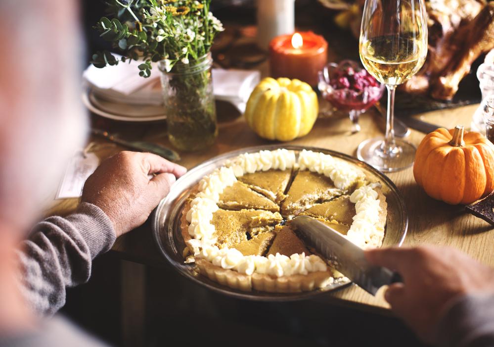 Cutting Pumpkin Pie