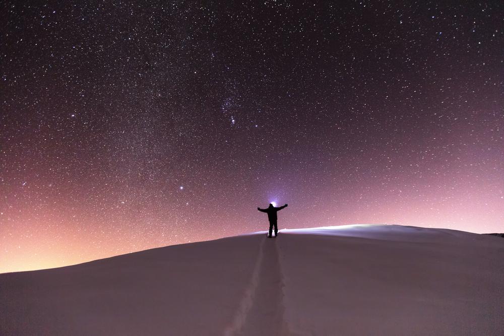 Star sky scene