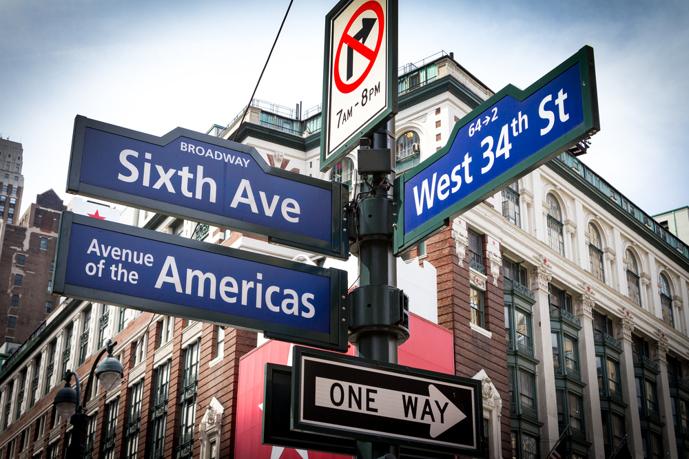 NYC Street Signs Intersection