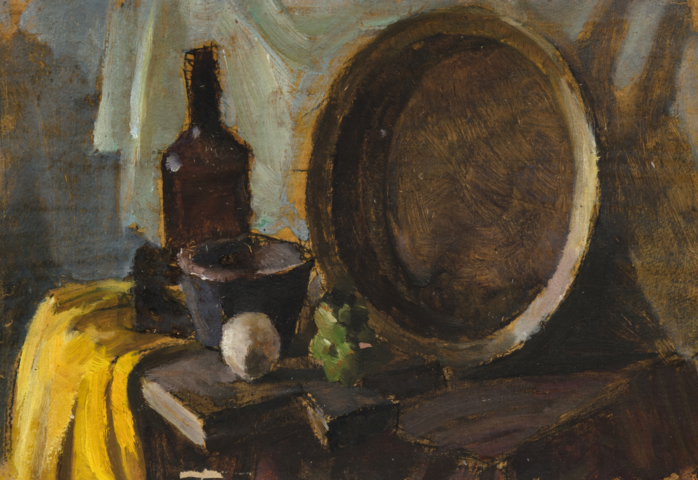 oil painting of household items