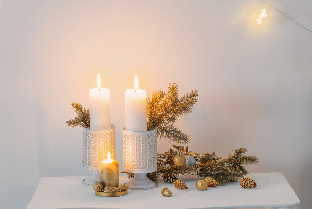 Christmas golden decor