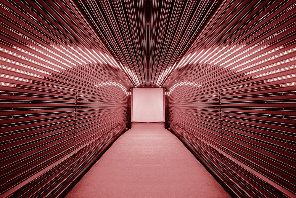Futuristic tunnel interior