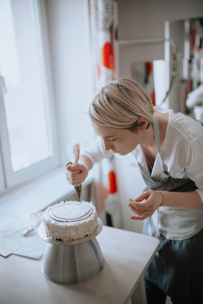 young woman confectioner
