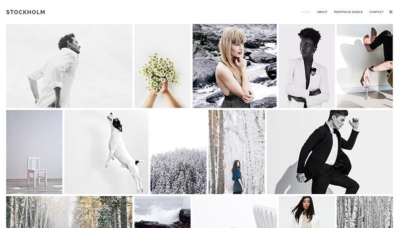 Stockholm photo blog theme