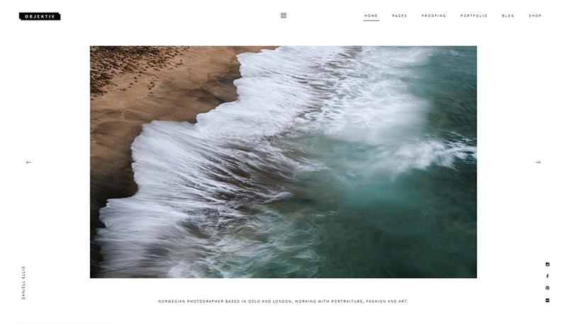 Objektiv photography website theme