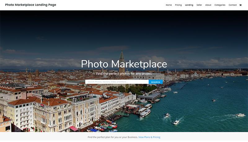 Divi photography website theme