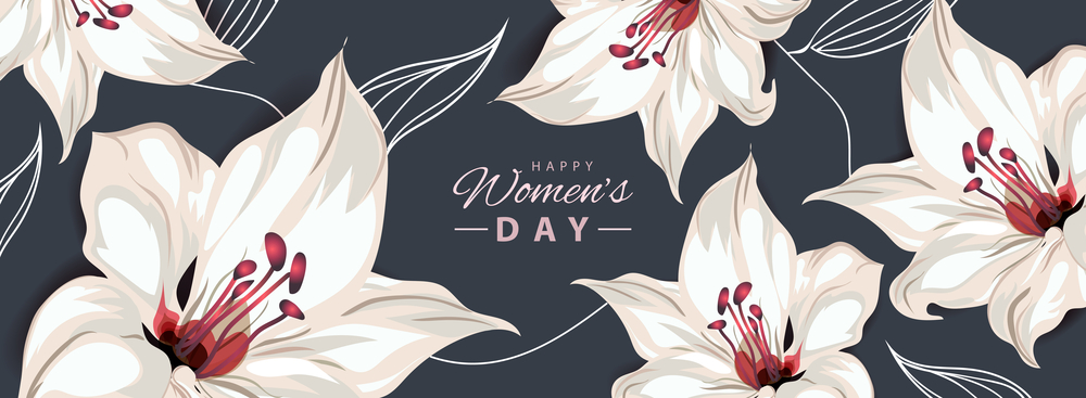 Happy Women's Day postcard