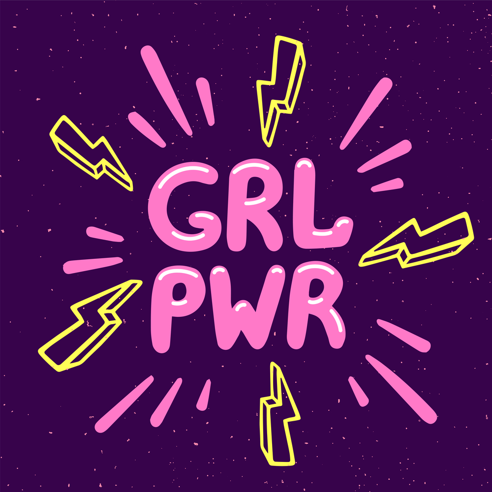 Girl power movement illustration