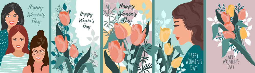 illustrations for International Women's Day.