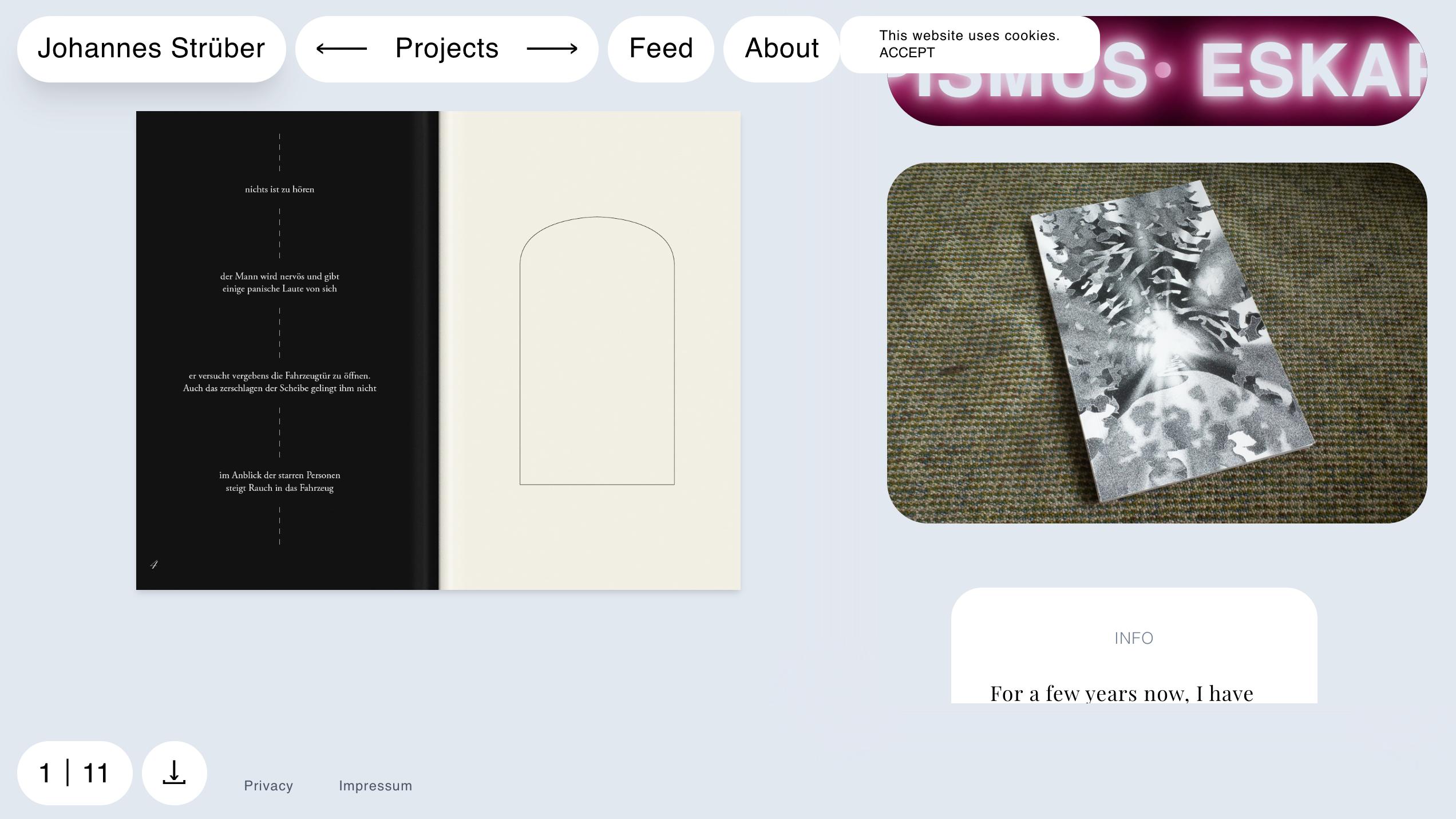 Johannes Strüber website design