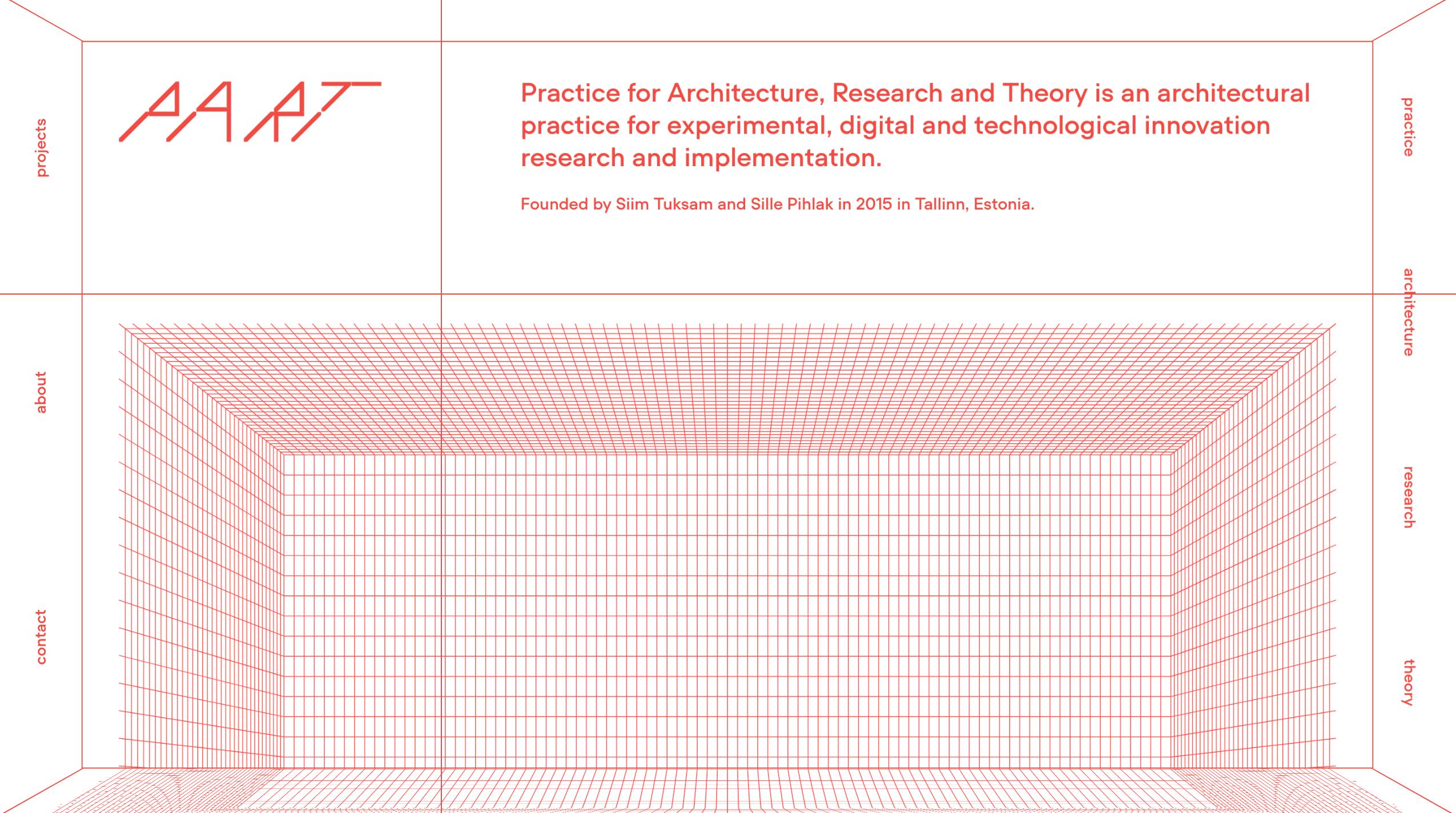 PART Architects website design : brutalism