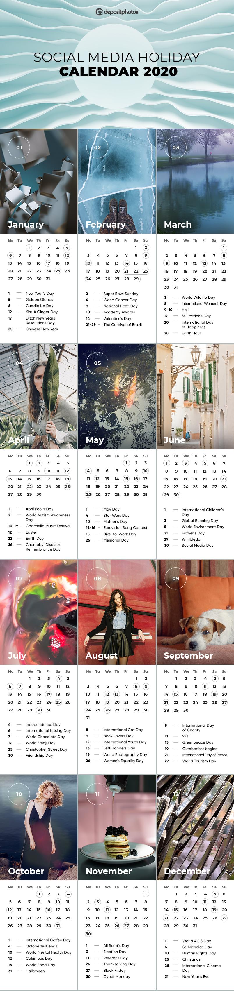 Social Media Holiday Calendar for 2020: Embracing JOMO