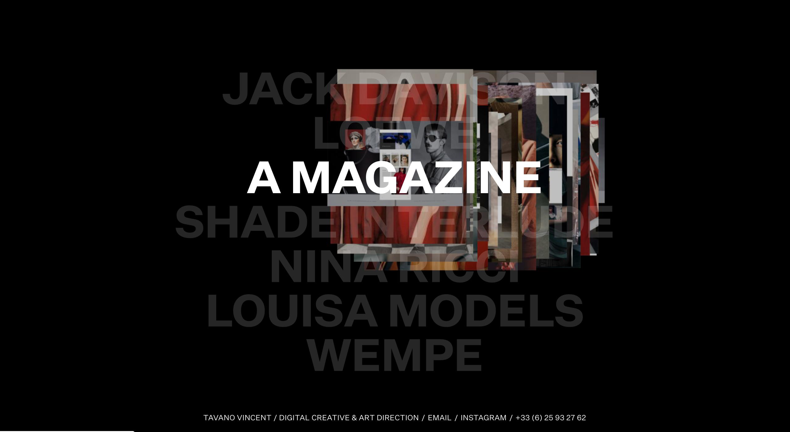Vincent Tavano brutalist web design