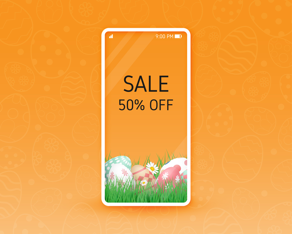 Sale banner for easter