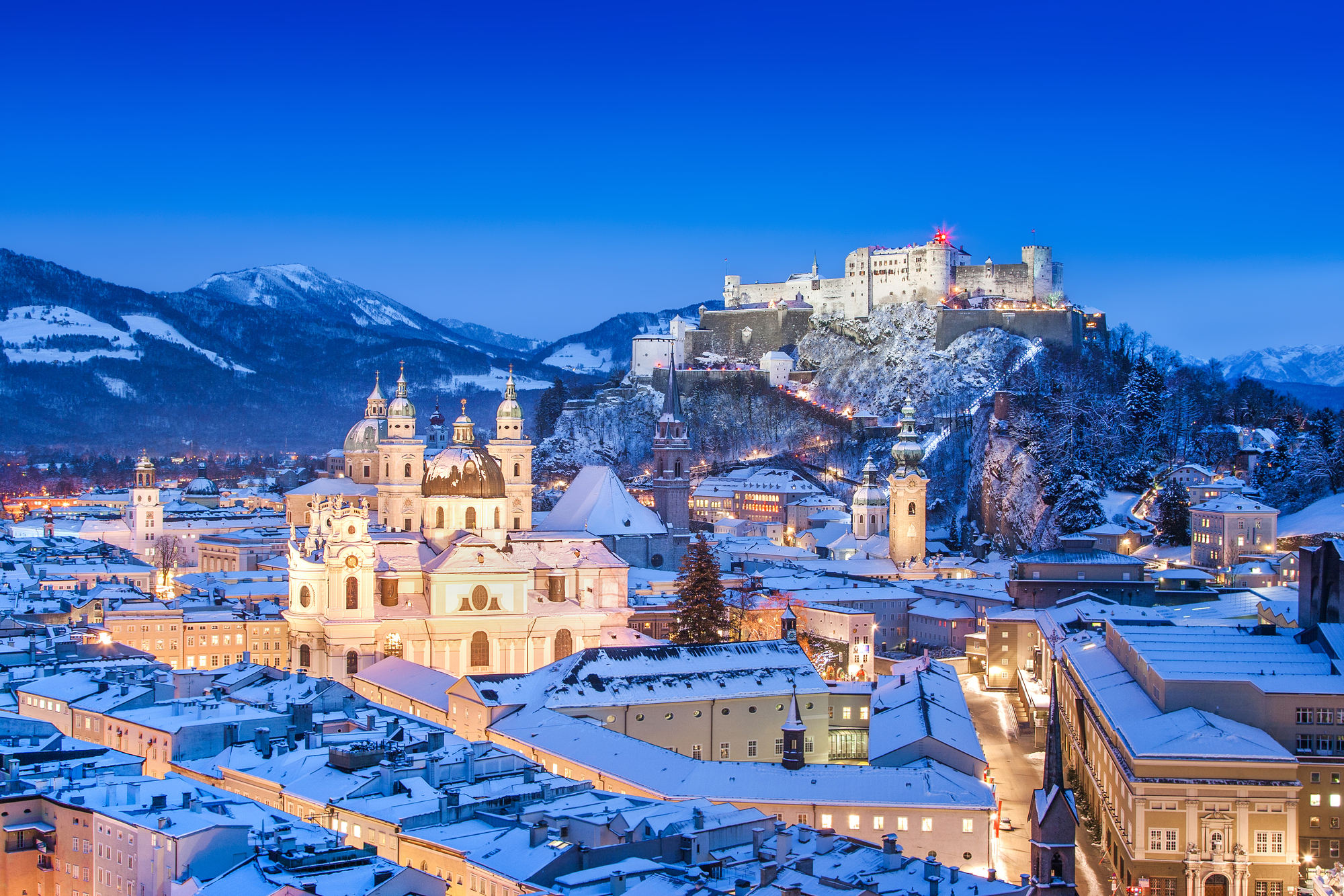 stock photo of the historic city of Salzburg