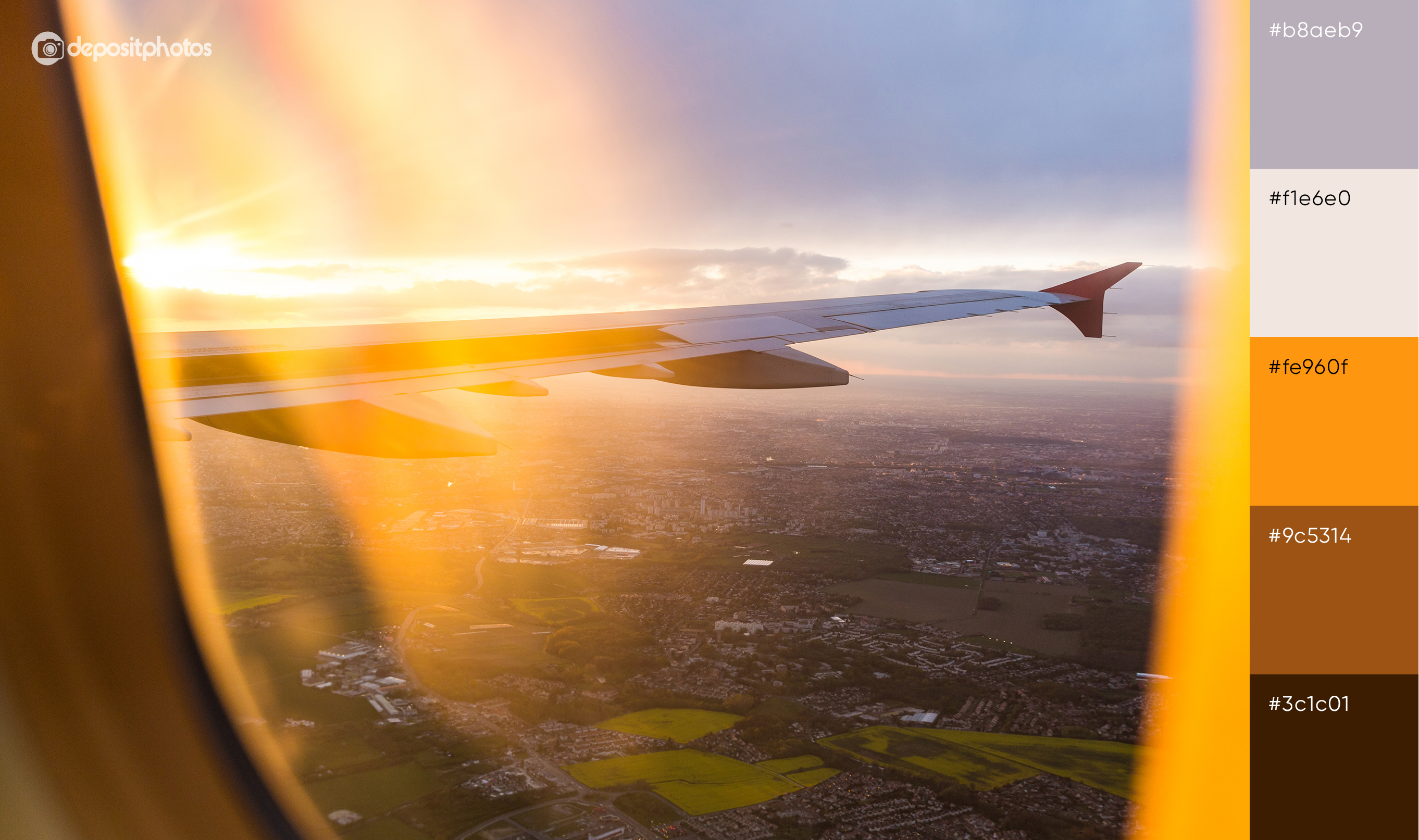 stock image of plane wing