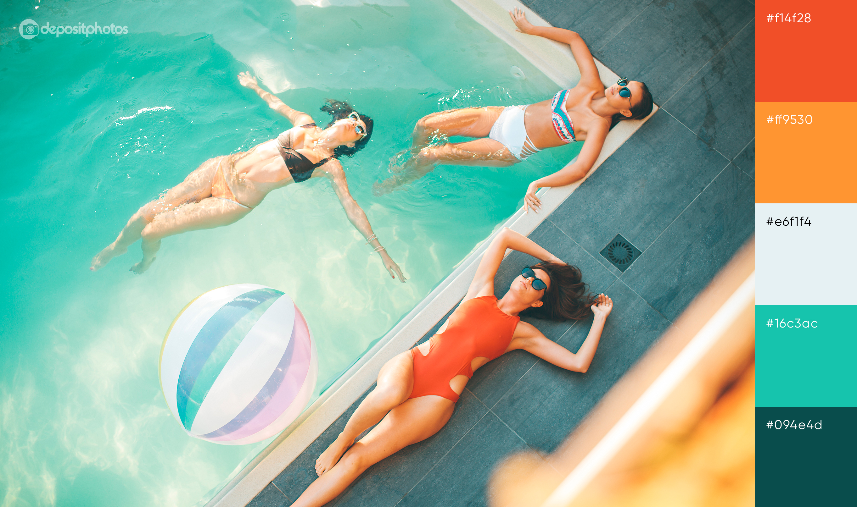 stock image girls lying by the swimming pool