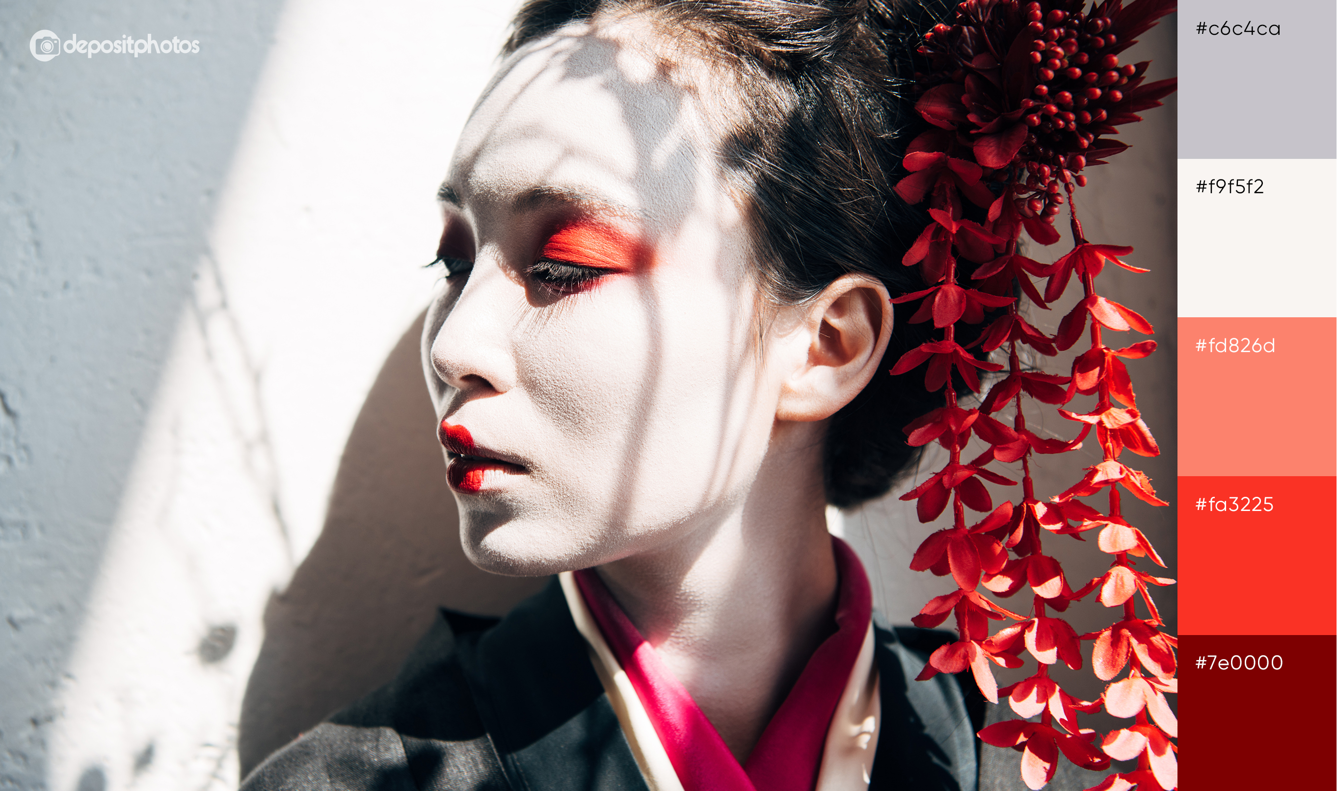 portrait of Jpanese geisha