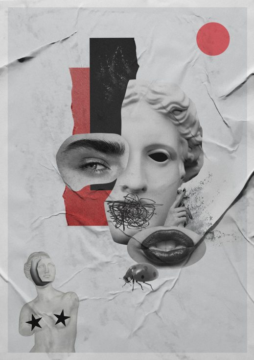 creative collage stock image