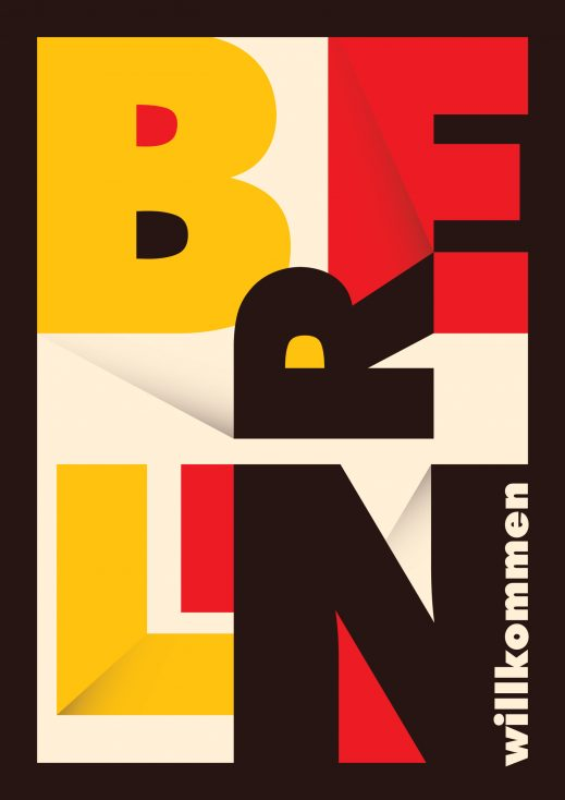 Berlin urban poster Bauhaus