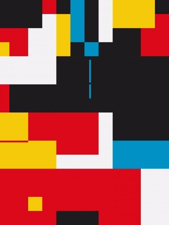 Bauhaus composition artwork stock image