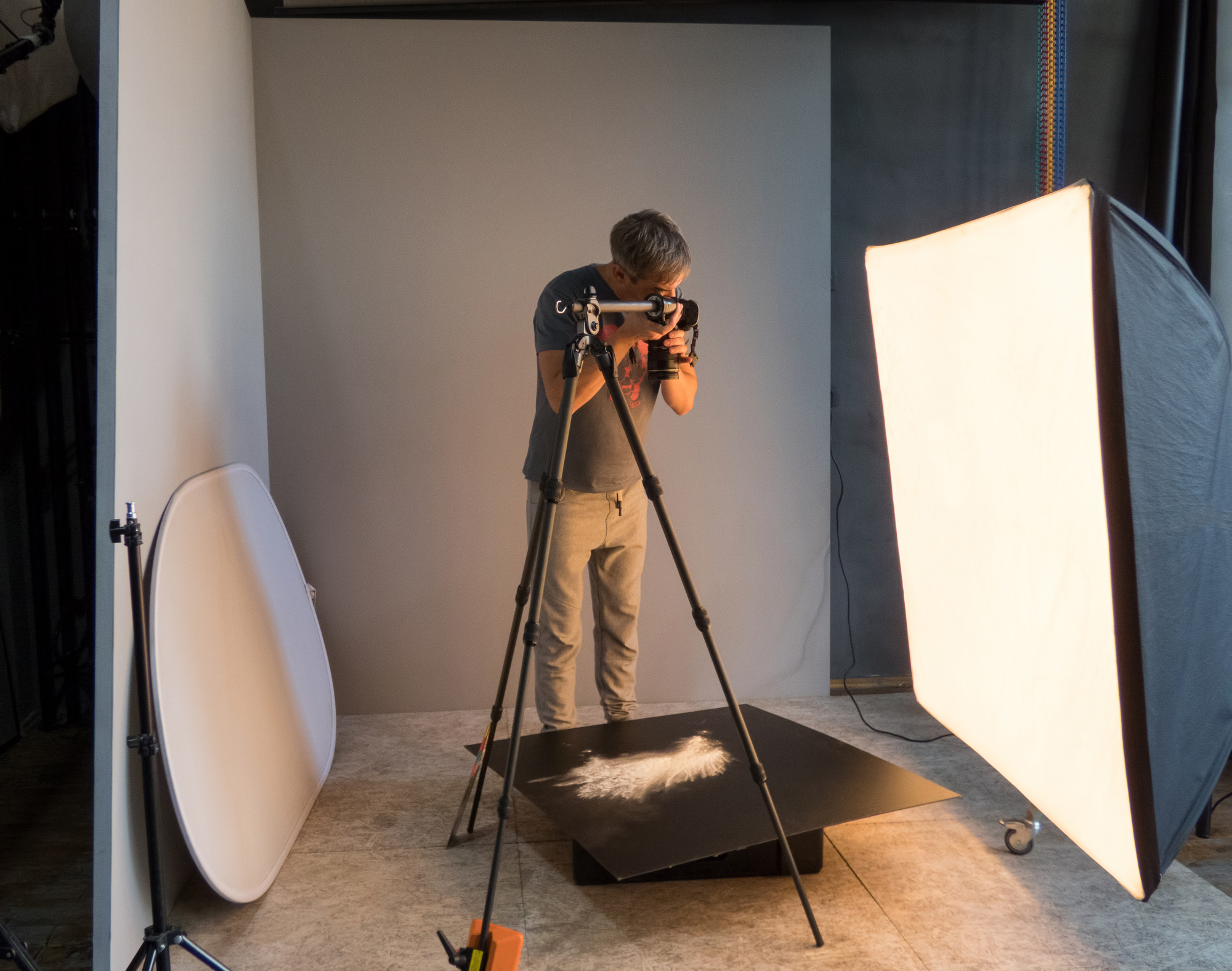 stock photo photographer working in the studio