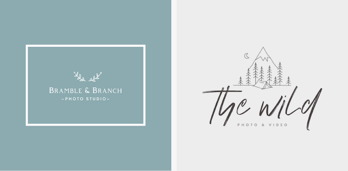 Top photography logo styles - Whimsical and Wild