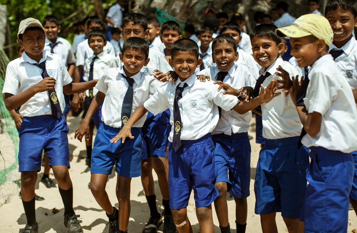 School children sri lanka stock photo editorial
