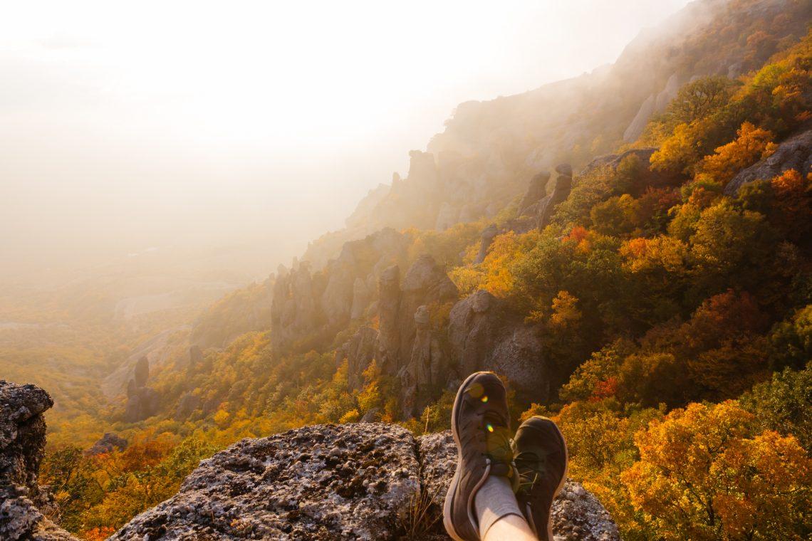 stock photo Autumn in the mountains of Crimea peninsula