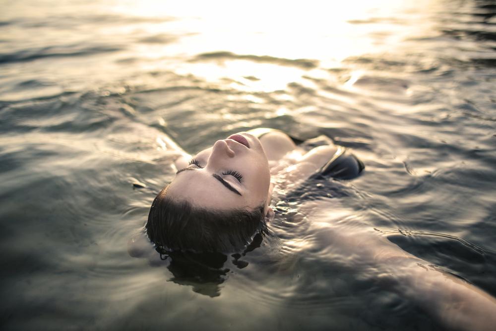 stock photo woman swimming