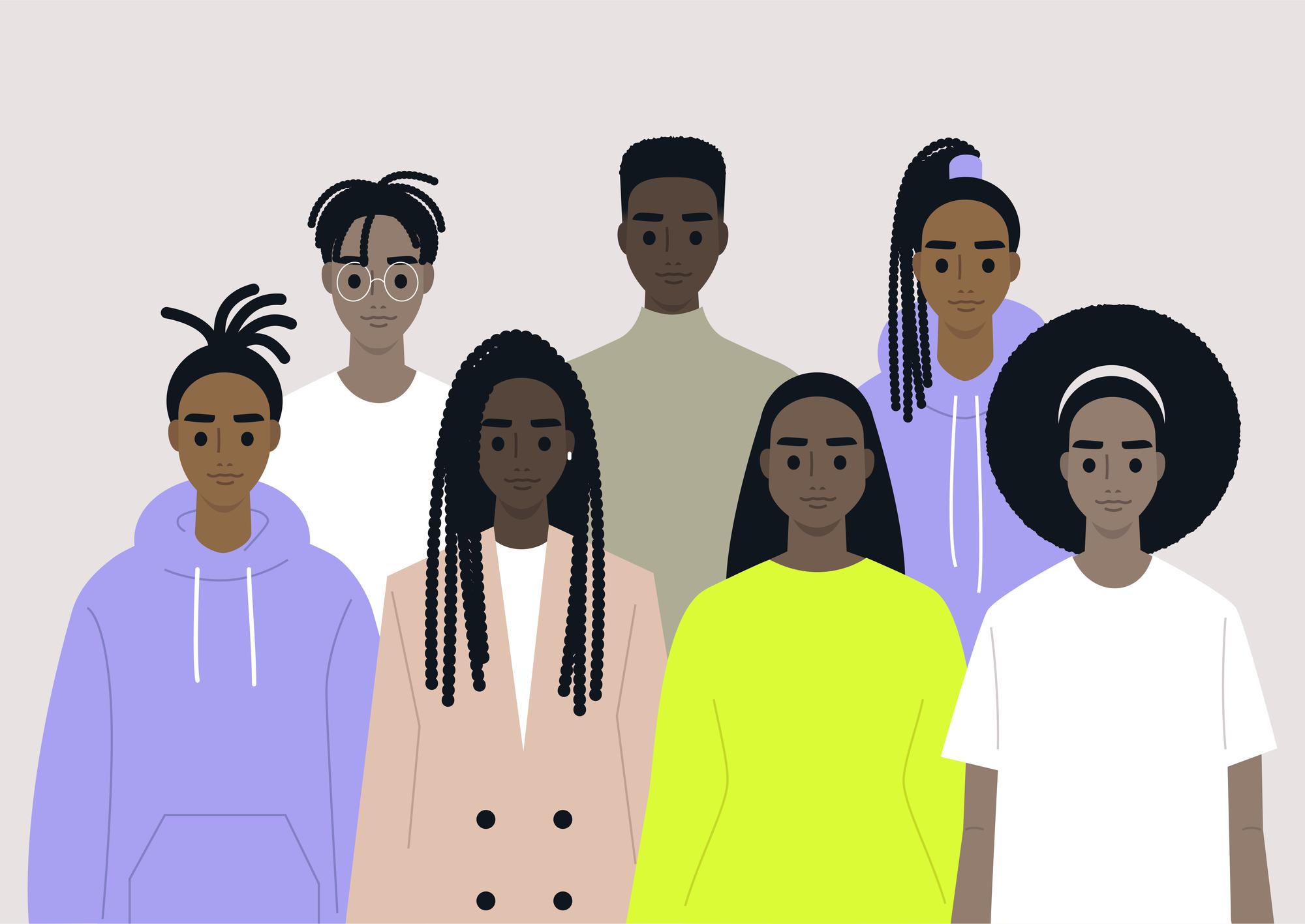 Black community stock illustration