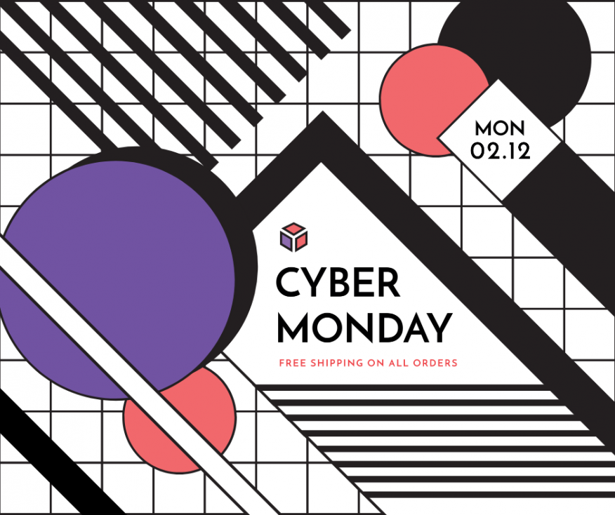 Cyber Monday design for Facebook (post)