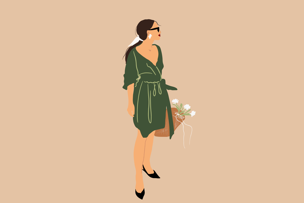 stock illustration woman