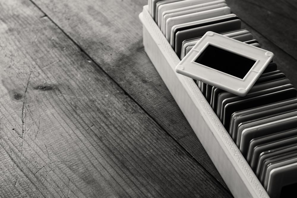 stock photo black and white slides retro