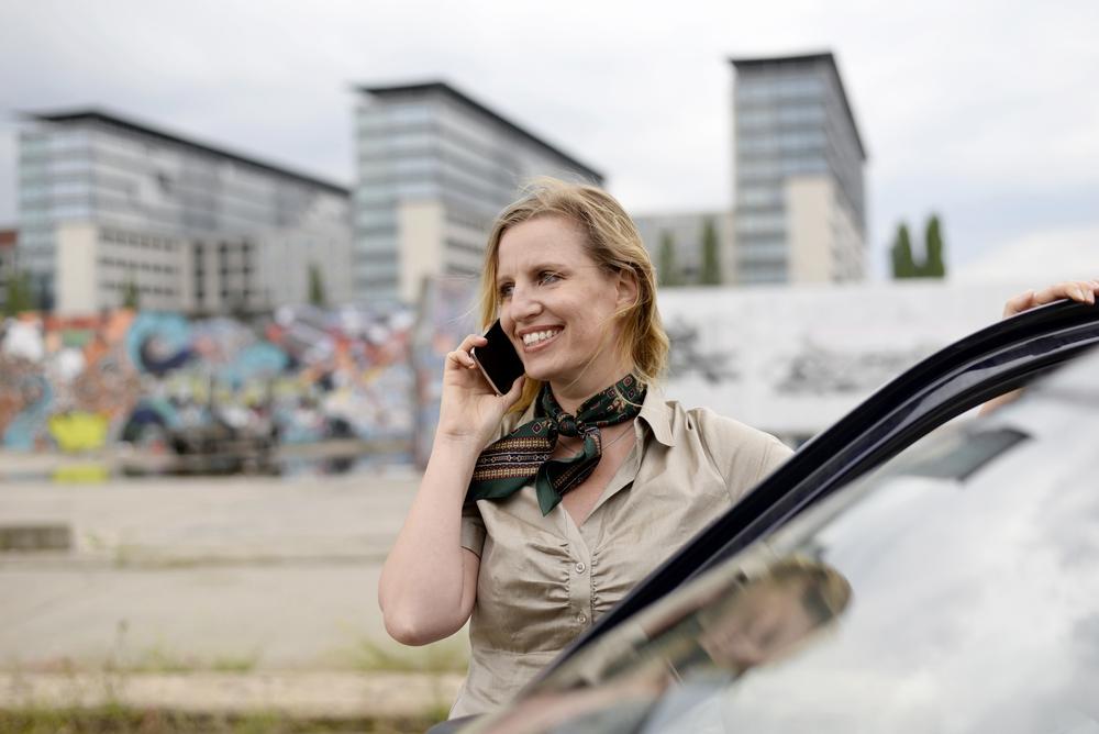 stock photo businesswoman speaking