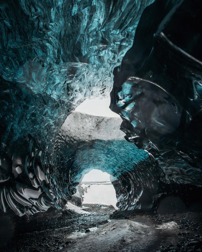 travel photography stock photo ice cave Iceland