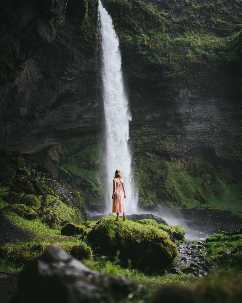 travel photography stock photo waterfall Iceland