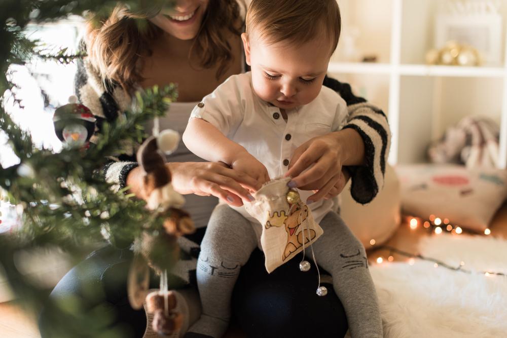 stock photo christmas decoration child