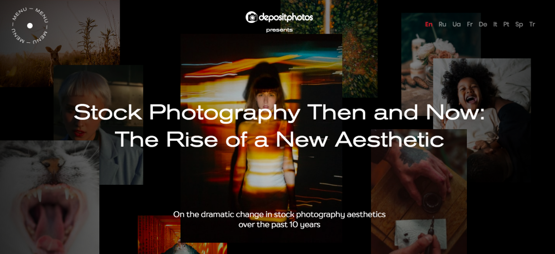 Stock photography then and now cover