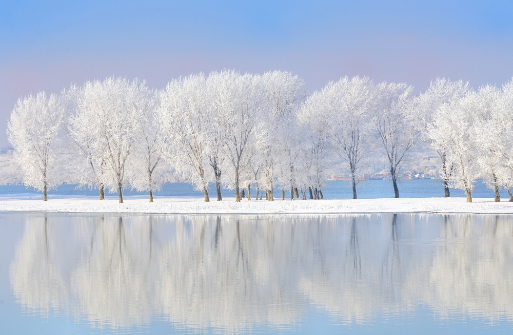 stock photo winter river