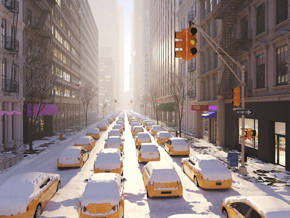 stock photo winter New York