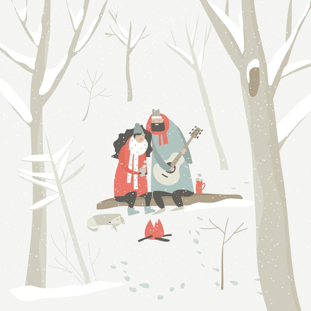 stock illustration love couple valentines day