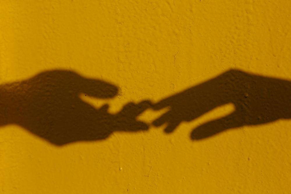 stock photo love hands wall