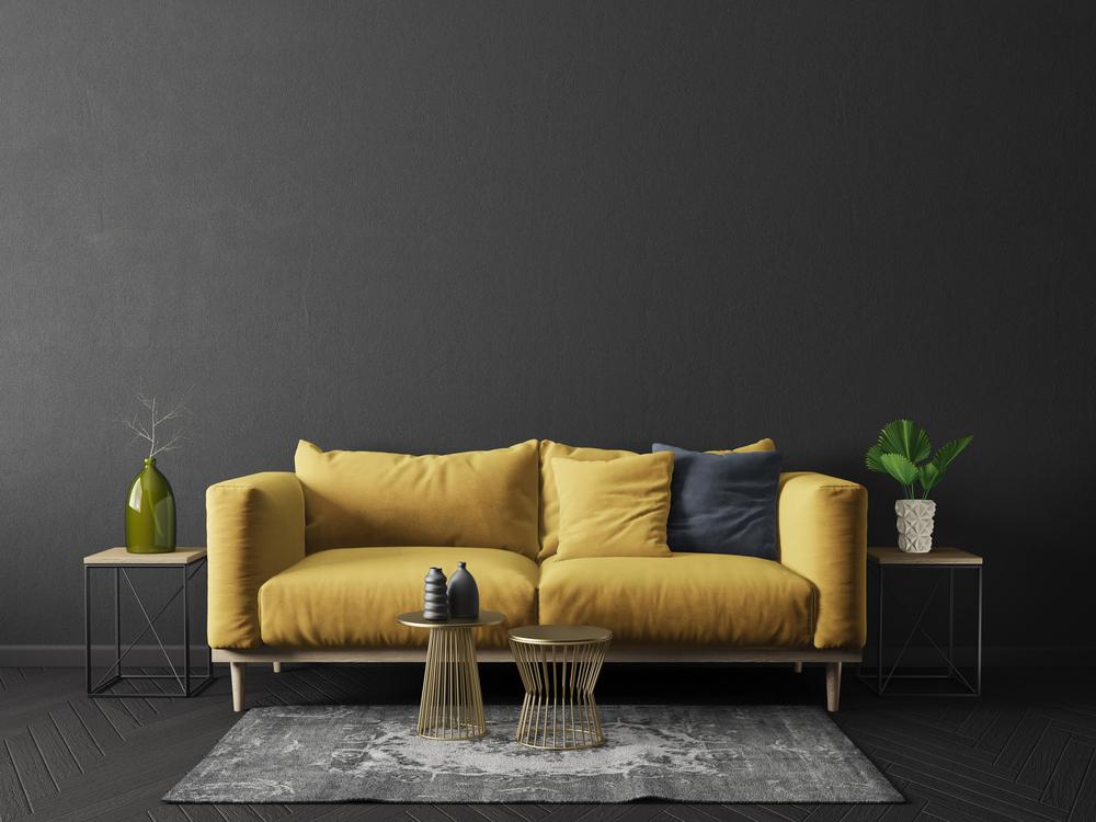 stock photo interior sofa wall