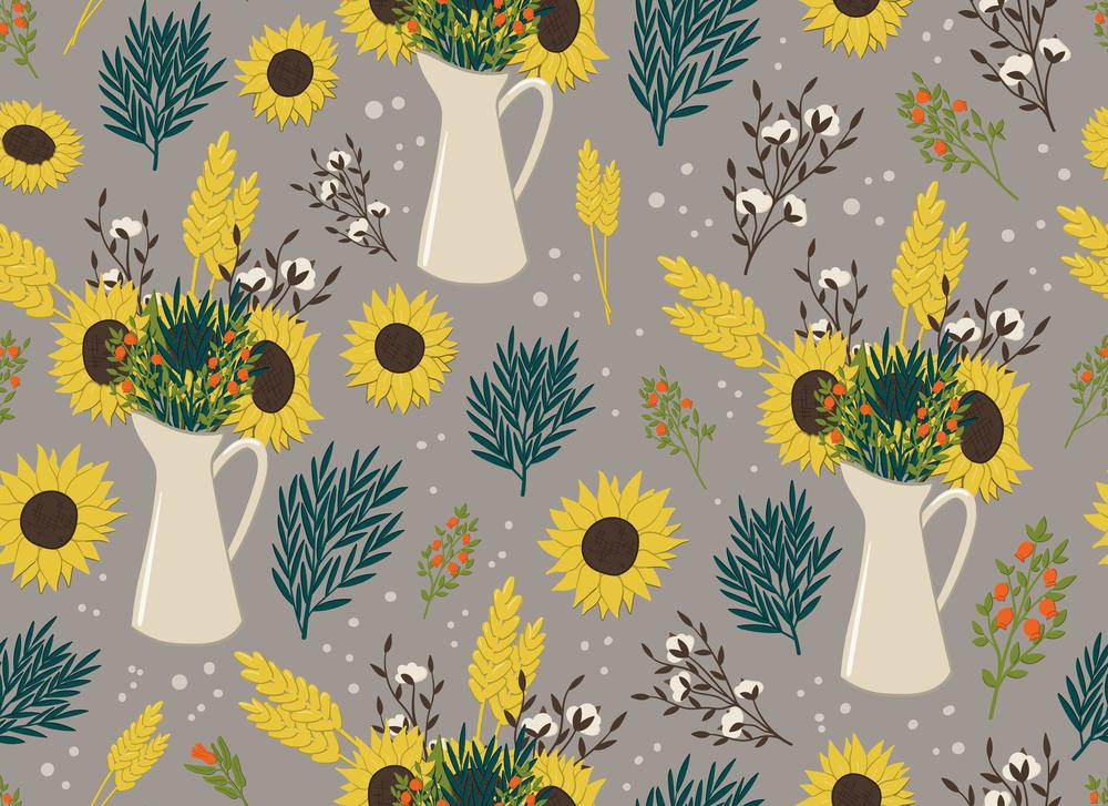 stock illustration flowers pattern