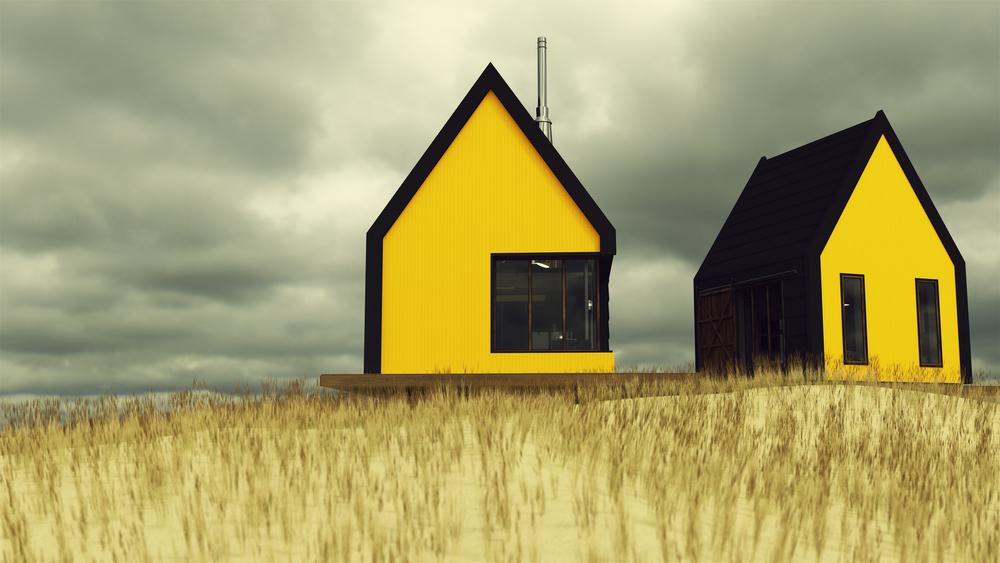 stock photo rural house