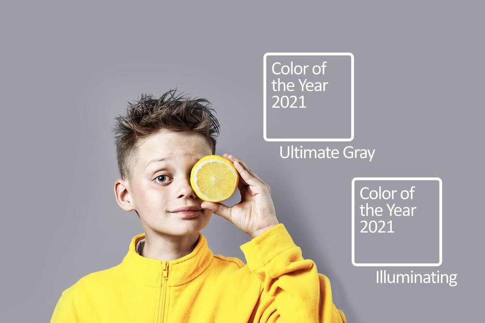 stock photo boy pantone colors 2021